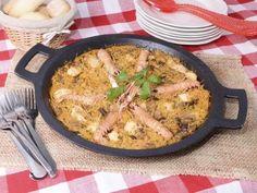 Receta | Fideuá de pollo de corral con setas y cigalas - canalcocina.es