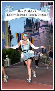 Making your own Cinderella and Prince Charming Disney running costumes is easy. All you need are needle, thread, safety pins, tape and some Disney magic.