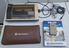 LOT OF VINTAGE COMMODORE 64 COMPUTER MPS 801 PRINTER PILOT 1660 MODEM CABLES #Commodore