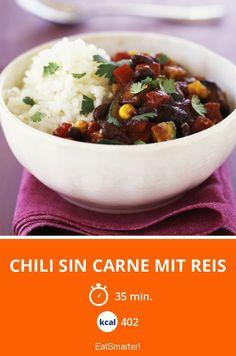 Chili sin carne mit Reis