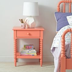 Jenny Lind Coral Nightstand | The Land of Nod