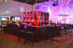 Tonga Wood Center Bar with Tonga Bar Stools | Just Bars