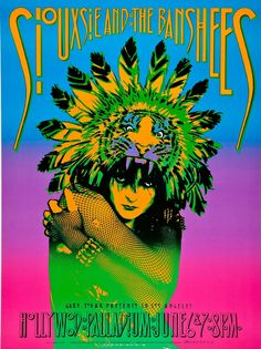 1986 Siouxsie and the Banshees Concert Poster by Victor Moscoso