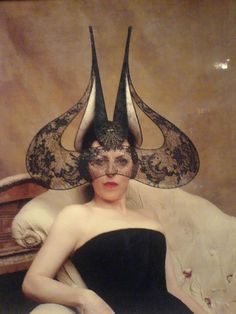 Bat Ear Hat  image © Irina Ionesco  model: Isabella Blow