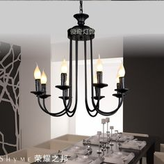 179.00$  Watch here - http://ali8w2.shopchina.info/1/go.php?t=32316510640 - European-style wrought iron chandelier lighting factory direct bedroom living room chandelier candle chandelier chandelier 8 spe 179.00$ #shopstyle