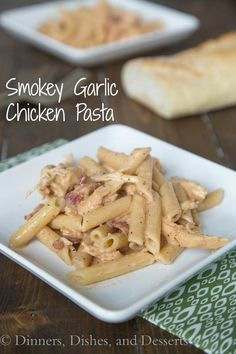My husband's all time favorite pasta !  A creamy chicken pasta dish with a lots of flavor. A little smokey, a little peppery, and so good!