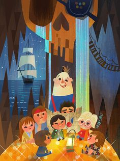"""Joey Chou: Here is my piece """"one eyed willy"""" for The Goonies Anniversary Tribute Art Show, Gallery Nucleus in Los Angeles may 2015 Joey Chou, Geek Art, Cultura Pop, Children's Book Illustration, Great Artists, Illustrations Posters, Deco, Pop Culture, Concept Art"""