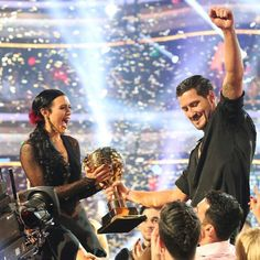 In honor of the end of #dwtslivetour #tb to DWTS season 20 Finale #champs #Valenrue @iamValC @TheRue