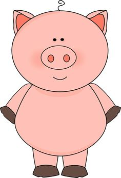 It is physically impossible for a pig to look into the sky! Pig Crafts, Farm Crafts, Three Little Pigs, This Little Piggy, Pig Images, Blessing Bags, Cowboy Theme, Cute Piggies, Dibujos Cute