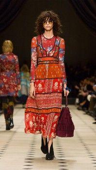 Robe longue folk Burberry Prorsum