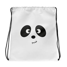 Panda drawstring bag gymsack benched bag
