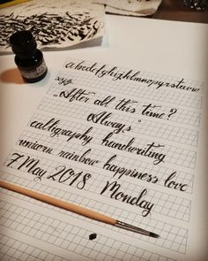First meet with calligraphy. I love it!