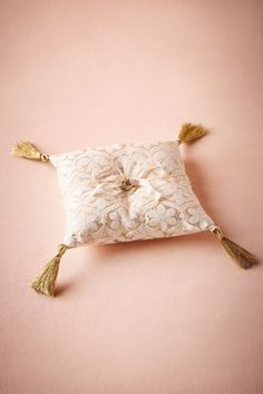Brocade Ring Pillow from @BHLDN