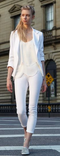 Love the all-white look