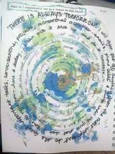 Work - reflection idea! Circle journaling