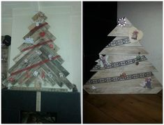 Christmas Trees From Repurposed Pallets Pallet Tree, Pallet Christmas Tree, Christmas Wood, Christmas Projects, All Things Christmas, Christmas Holidays, Christmas Trees, Christmas Decorations, Holiday Decor