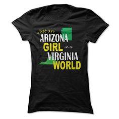 Arizona Girl in Virginia T-Shirts, Hoodies. CHECK PRICE ==► Funny Tee Shirts