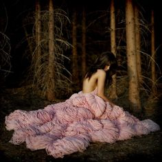 """Pink (""""The Elizabeth"""" dress knitted by Jemma Sykes.) #jemma_sykes #the_elizabeth #dresses #fashion #women #pink #knitting #skin #forest"""