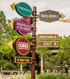 Zoo Signage and Wayfinding Zoo Signage, Directional Signage, Signage Display, Wayfinding Signage, Signage Design, Cafe Design, Zoo Architecture, Zoo Park, Columbus Zoo