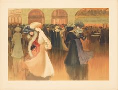 Louis Abel-Truchet - A Ball in Paris Vintage French Posters, Munier, Musee Carnavalet, Art Graphique, Le Moulin, Your Paintings, Oil Painting On Canvas, French Antiques, Photo Galleries