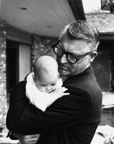 Cary Grant and daughter Jennifer, 1966