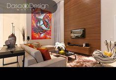 Sala diseñada por Dasa Design con mobiliario fabricado en Colombia, decorativos importados y la mejor asesoría.
