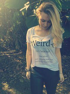 Tshirt Weird www.beliven.com.br
