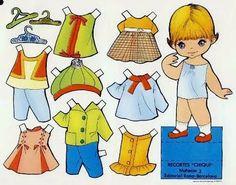 Bonecas de Papel: Cabeçudas Coleção CHIQUI