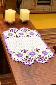 Artesanato com amor...by Lu Guimarães: Receita: Mini Toalha Floral em Crochê para o Café
