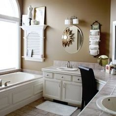 Tips for decorating a bathroom.