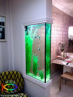 Those are the ideas of aquarium kitchen which can be your inspirations. Placing an aquarium in the kitchen is a smart idea to have a unique decoration. Wall Aquarium, Aquarium Design, Aquarium Ideas, Aquarium House, Seahorse Aquarium, Corner Aquarium, Seahorse Tank, Goldfish Aquarium, Goldfish Tank