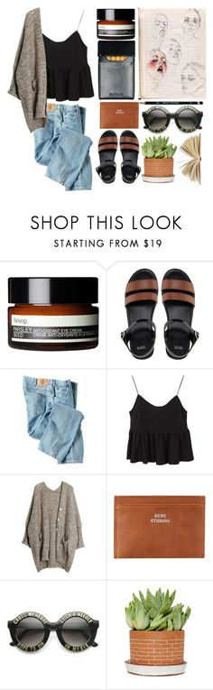 """cross my heart hope to die"" by ch3rie ❤ liked on Polyvore featuring Aesop, ASOS, Dickies, Acne Studios, ZeroUV and Rachel"