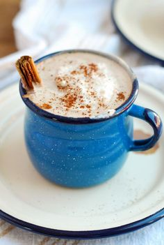 spicy maple cinnamon hot chocolate