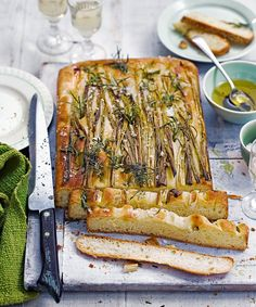 Make the most of vibrant spring onions in this easy focaccia bread recipe that's dotted with fragrant rosemary and plenty of sea salt.