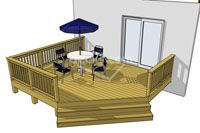 This deck design is a perfect choice if you are working with a low elevation and a tight budget. This economy minded deck will give you the most bang for your buck. #timbertech #deck
