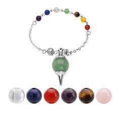 7pc Tumbled Stone Chakra Bead Purple Tassel Adjust Bracelet Reiki Healing Gift