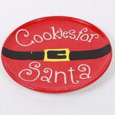 """Found it at Wayfair - 10"""" Cookies for Santa Ceramic Plate"""