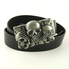 Punk Skull Head Metal Buckle PU Leather Belt - Skullflow  https://www.skullflow.com/collections/skull-belts-buckles/products/punk-skull-head-metal-buckle-pu-leather-belt