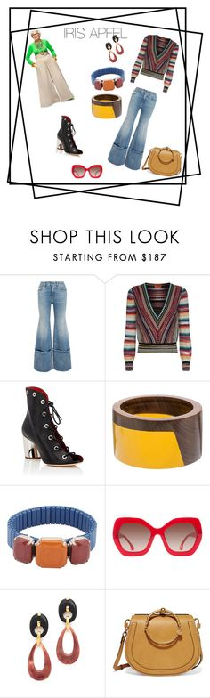 """""""Style Icon: Iris APFEL"""" by mpisani ❤ liked on Polyvore featuring Off-White, Missoni, Proenza Schouler, Marni, Isabel Marant, Alice + Olivia, Lizzie Fortunato and Chloé"""