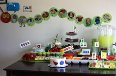Very Hungry Caterpillar Birthday Party.LOVE LOVE LOVE the idea of putting pictures of E. on the caterpillar as a wall decor. Birthday Board, Baby First Birthday, Baby Birthday, First Birthday Parties, Birthday Party Themes, First Birthdays, Birthday Ideas, Eric Carle, Hungry Caterpillar Party