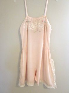 1920s Peach Silk Flapper Art Deco Teddy Undergarment.  via Etsy.