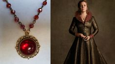 REIGN Queen Catherine red crystal pendant by SparklingFantasies