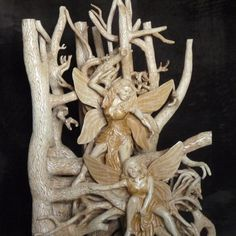 Fairy wood carving