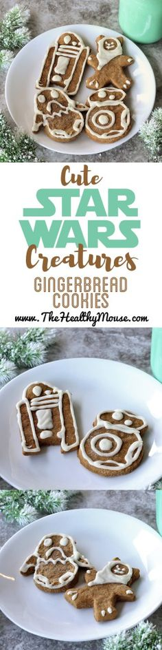 Cute Creatures Star Wars Gingerbread Cookies - The Healthy Mouse Disney Christmas Shirts, Disney World Christmas, Christmas Drinks, Disney Food, Disney Recipes, Disney Diy, Disney Crafts, Disney Magic, Disney Parks
