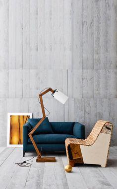 grey timber walls