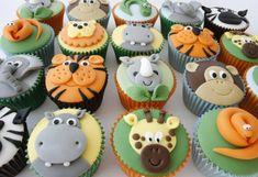 Baby shower cupcakes safari jungle animals Ideas for 2019 Safari Cupcakes, Zoo Animal Cupcakes, Themed Cupcakes, Birthday Cupcakes, Animal Cakes For Kids, Lion King Cupcakes, Jungle Theme Birthday, Zoo Birthday, Animal Birthday
