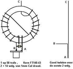 End fed antenne bouwpakket basisset compleet met RVS Schroeven en moeren