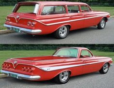 1961 Chevy Station Wagon & NEVER made a '61 El Camino, but probably should have.