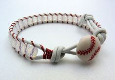 Lucy & Larry - jewelry designs for the slightly mischievous: New Items - BASEBALL Leather Wrap Bracelets Vitelli Baseball Jewelry, Baseball Crafts, Baseball Mom, Baseball Stuff, Baseball Ring, Baseball Boyfriend, Baseball Party, Baseball Season, Bling Bling