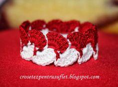 Crochet Cord, Crochet Bracelet, Free Crochet, Crochet Jewellery, Baba Marta, 8 Martie, Crochet Accessories, Free Pattern, Raspberry